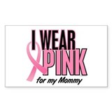 I Wear Pink For My Mommy 10 Rectangle Decal