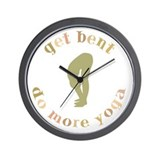 Get Bent Do More Yoga Wall Clock