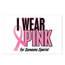 I Wear Pink For Someone Special 10 Postcards (Pack