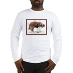 Puppy meets grasshopper Long Sleeve T-Shirt