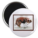 "Puppy meets grasshopper 2.25"" Magnet (10 pack"