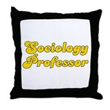 Retro Sociology P.. (Gold) Throw Pillow