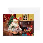 Santa's 2 Pekingese Greeting Cards (Pk of 20)
