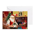 Santa's Pekingese (#1b) Greeting Cards (Pk of 10)