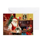 Santa's Pekingese (#1b) Greeting Cards (Pk of 20)