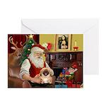 Santa's Pekingese (#1rd) Greeting Cards (Pk of 10)