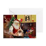 Santa's Pekingese (#1rd) Greeting Cards (Pk of 20)