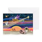 XmasStar/2 Pekingese Greeting Cards (Pk of 20)