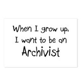 When I grow up I want to be an Archivist Postcards