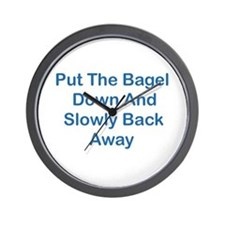 Put The Bagel Down Wall Clock