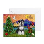 Christmas Schnauzer Greeting Card