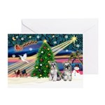 Xmas Magic & Min S Greeting Card