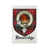 Beveridge Clan Crest Tartan Rectangle Magnet (10 p