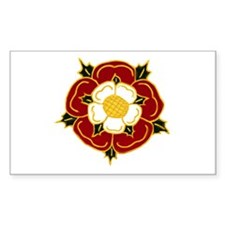 Tudor Rose Rectangle Decal