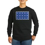 Blue Snowflake Long Sleeve Dark T-Shirt