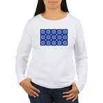 Blue Snowflake Women's Long Sleeve T-Shirt