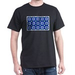 Blue Snowflake Dark T-Shirt