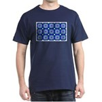 Blue Snowflake Navy Blue T-Shirt