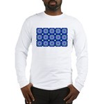 Blue Snowflake Long Sleeve T-Shirt