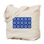 Blue Snowflake Tote Bag