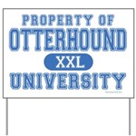 Otterhound University Yard Sign