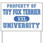 Toy Fox Terrier U. Yard Sign