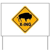 Bison Yard Signs
