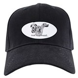 3 head study B&amp;amp;W Irish Wolfhound Baseball Hat