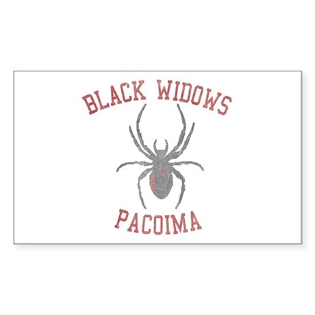 Black Widows Pacoima Rectangle Sticker