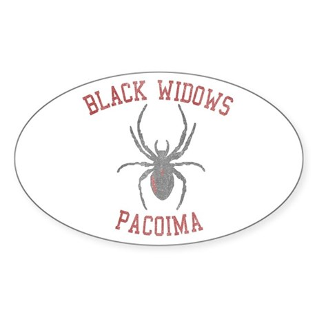 Black Widows Pacoima Oval Sticker