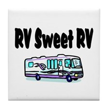 RV Sweet RV Tile Coaster