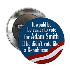 Adam Smith congressional campaign button