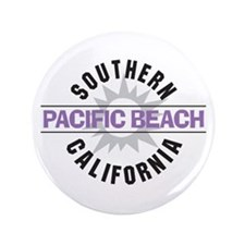"Pacific Beach California 3.5"" Button (100 pack)"
