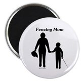 "Fencing Mom 2.25"" Magnet (10 pack)"