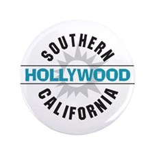 "Hollywood California 3.5"" Button (100 pack)"