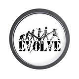 Volleyball Evolution Wall Clock