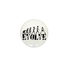 Volleyball Evolution Mini Button (100 pack)