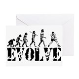 Volleyball Evolution Greeting Cards (Pk of 10)