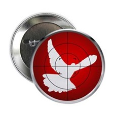 "TARGET:peace dove 2.25"" Button (10 pack)"