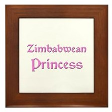 Zimbabwean Princess Framed Tile