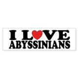 I Love Abyssinians Cat Bumper Car Sticker