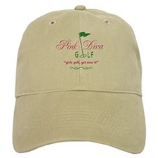 Pink Diva Golf Logo - Baseball Hat