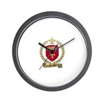 BERNARD Family Crest Wall Clock
