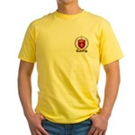 BERNARD Family Crest Yellow T-Shirt