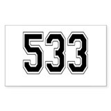 533 Rectangle Sticker 10 pk)