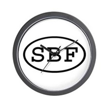 SBF Oval Wall Clock