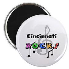 Cincinnati Rocks Magnet