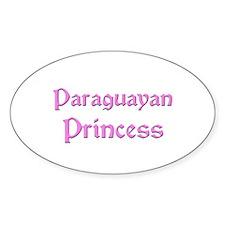 Paraguayan Princess Oval Decal