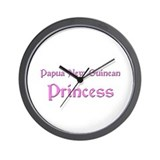 Papua New Guinean Princess Wall Clock