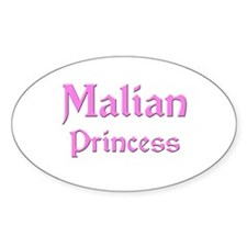 Malian Princess Oval Decal